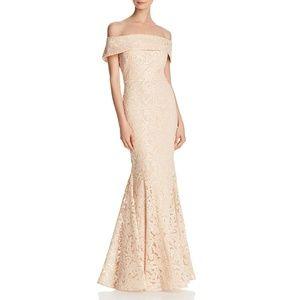 Eliza J  Off-Shoulder Sequined Formal Dress Sm 2/4